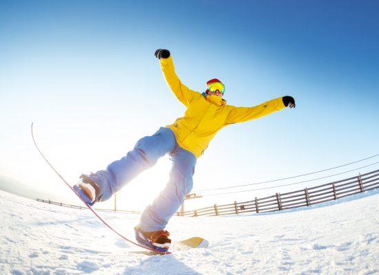 Snowboarding at Falls Creek