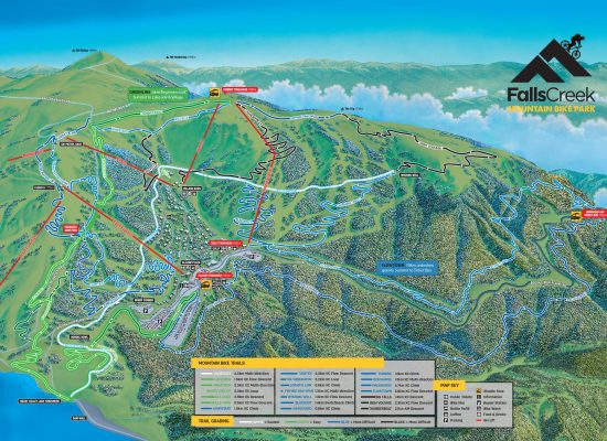 Falls Creek Mountain Bike Map