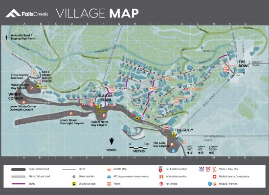 Falls Creek Village Map