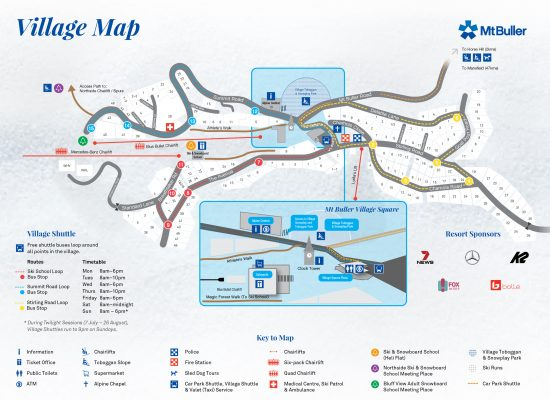 Mt Buller Village Map