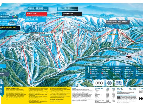 Mt Hotham Ski Map